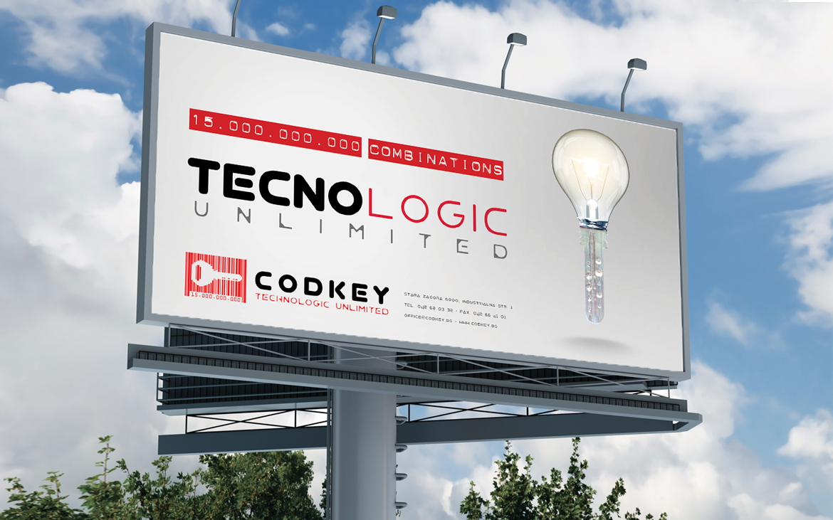 Codkey. Locking systems Outdoor advertising billboard