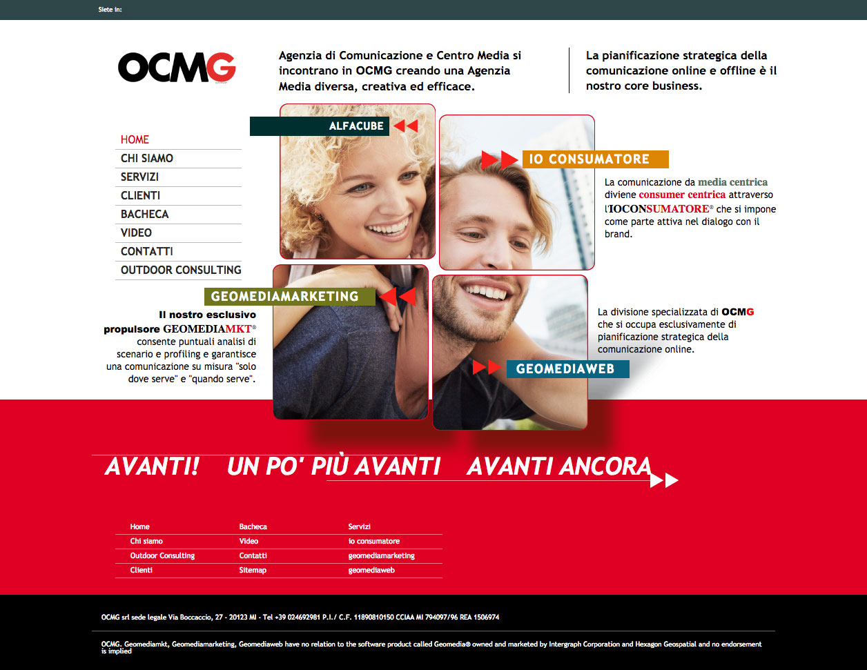 OCM Media & Comunicazione Website design